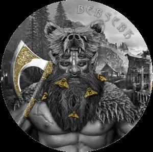 berserk warrior germania mint high relief 2 oz antique finish