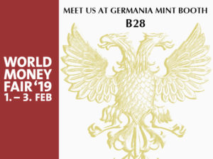 germania two headed eagle world money fair 2019