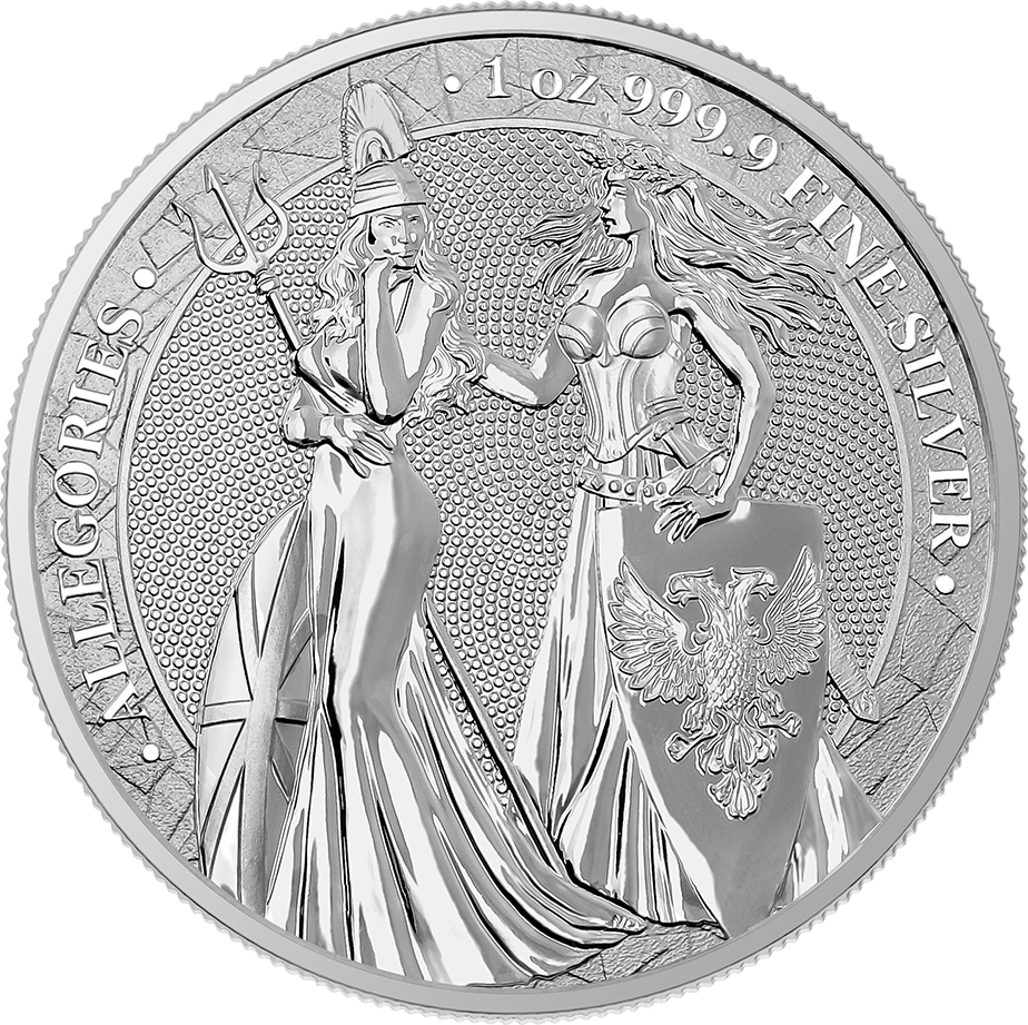 Allegories: Britannia & Germania 1 oz Silver BU