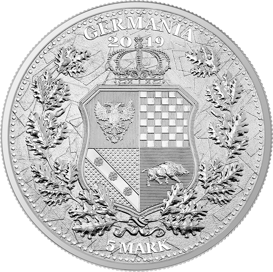 Germania 2019 silver coin Reverse