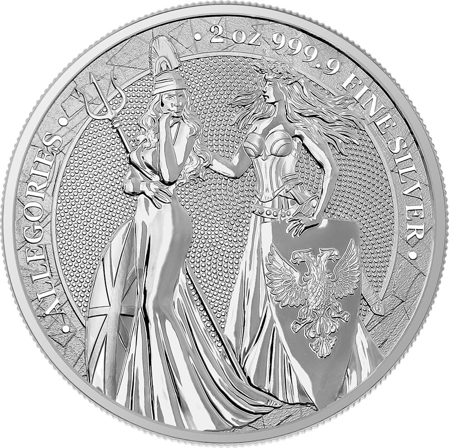 Allegories: Britannia & Germania 2 oz Silver BU