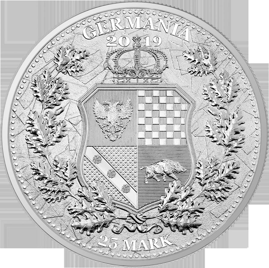Germania 2019 silver coin Reverse