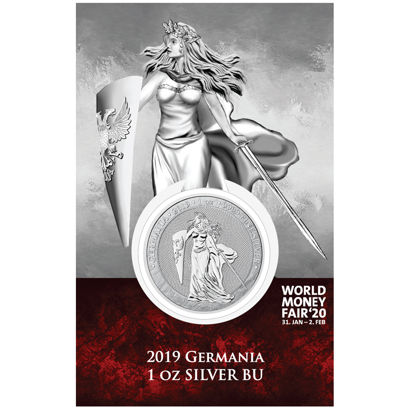 2019 Germania 1 oz Silver BU WMF 2020 edition
