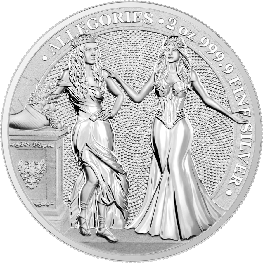 Allegories: Italia & Germania 2 oz Silver BU